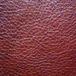 sample of semi-aniline leather
